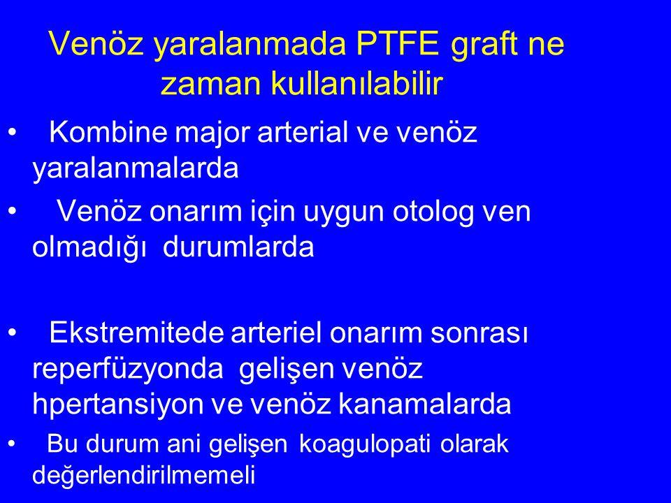 Venöz yaralanmada PTFE graft ne zaman kullanılabilir