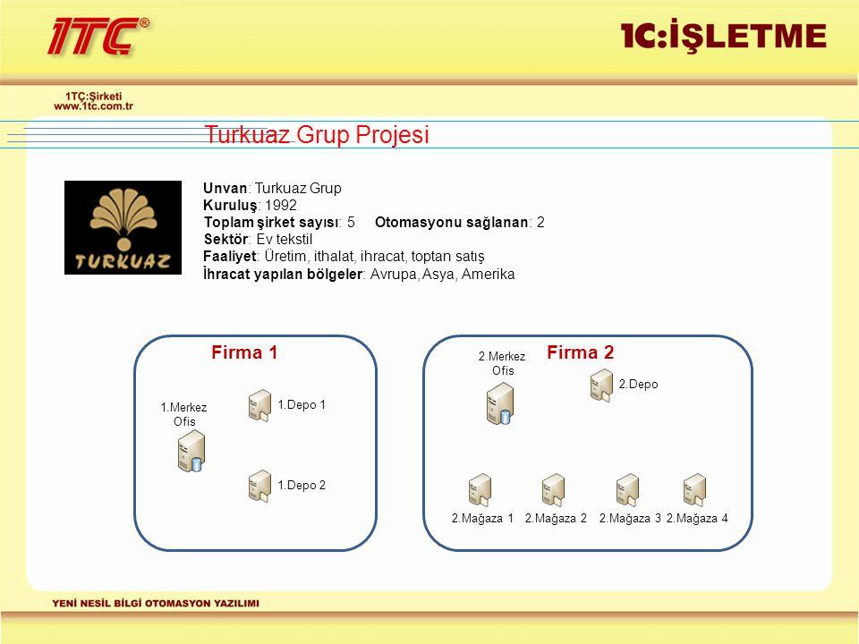 Turkuaz Grup Projesi Firma 1 Firma 2 Unvan: Turkuaz Grup Kuruluş: 1992
