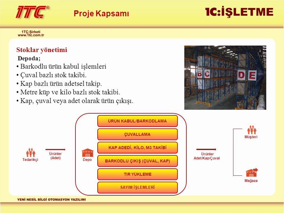ÜRÜN KABUL/BARKODLAMA BARKODLU ÇIKIŞ (ÇUVAL, KAP)