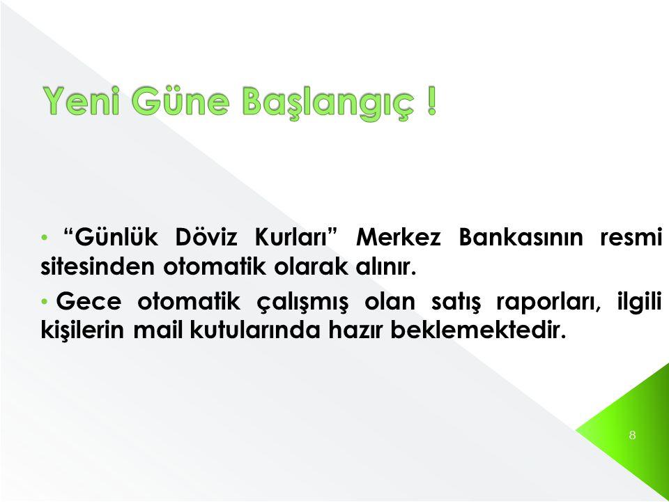 Yeni Güne Başlangıç ! Günlük Döviz Kurları Merkez Bankasının resmi sitesinden otomatik olarak alınır.