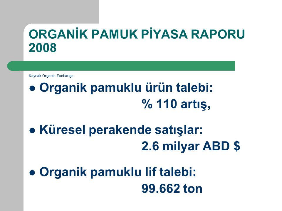 ORGANİK PAMUK PİYASA RAPORU 2008