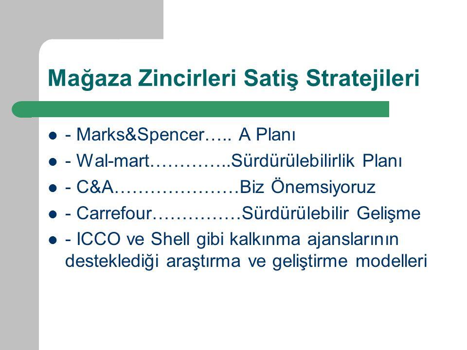 Mağaza Zincirleri Satiş Stratejileri