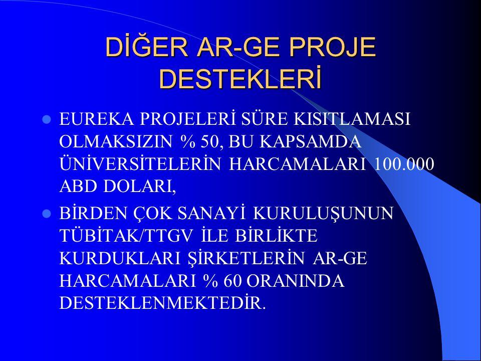 DİĞER AR-GE PROJE DESTEKLERİ
