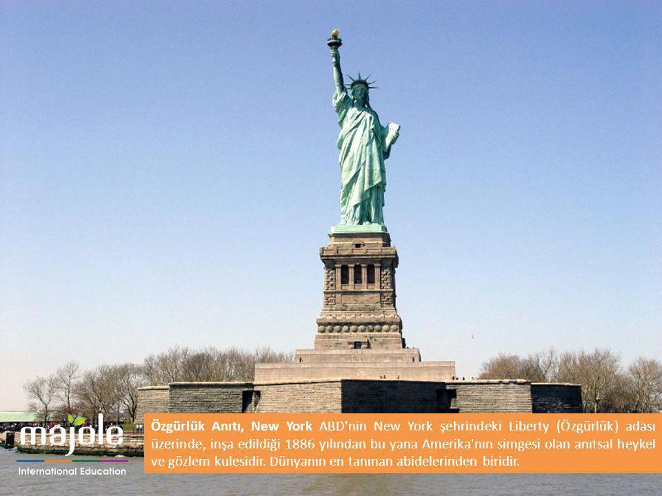 Özgürlük Anıtı, New York ABD nin New York şehrindeki Liberty (Özgürlük) adası üzerinde, inşa edildiği 1886 yılından bu yana Amerika nın simgesi olan anıtsal heykel ve gözlem kulesidir.