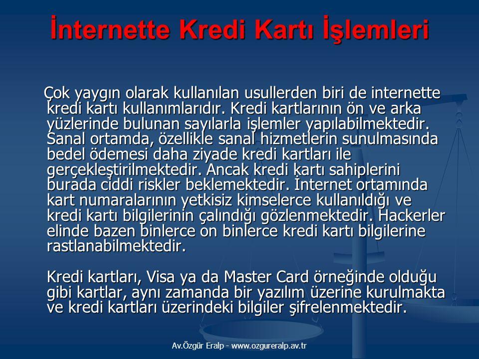 İnternette Kredi Kartı İşlemleri
