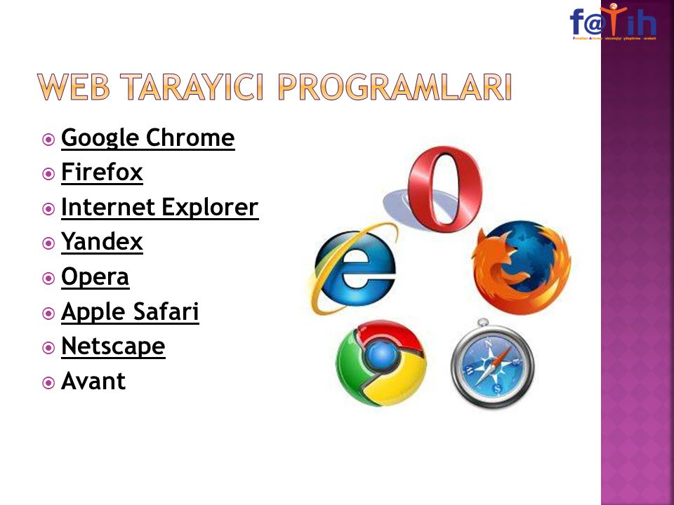 WEB TARAYICI PROGRAMLARI