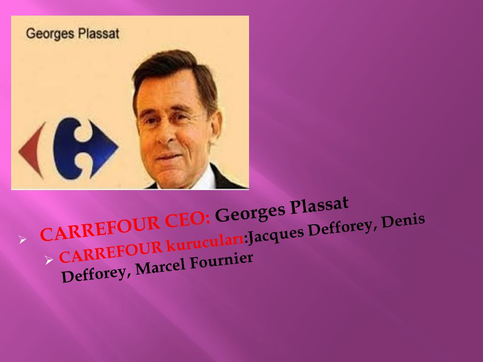 CARREFOUR CEO: Georges Plassat