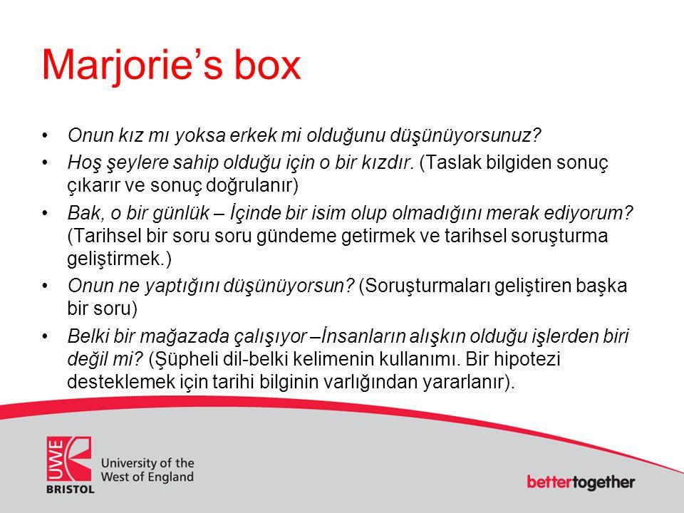 Marjorie's box Onun kız mı yoksa erkek mi olduğunu düşünüyorsunuz