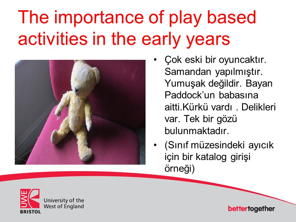 The importance of play based activities in the early years