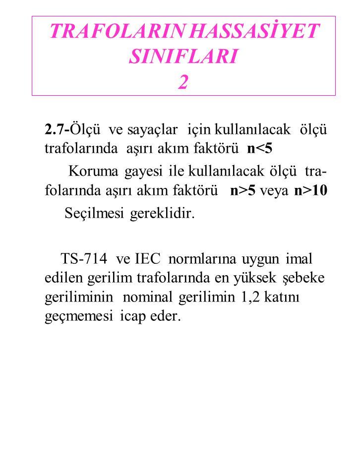 TRAFOLARIN HASSASİYET SINIFLARI 2