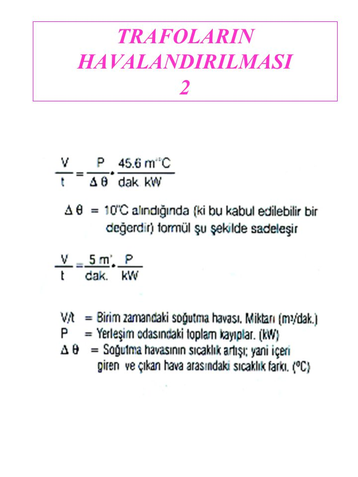 TRAFOLARIN HAVALANDIRILMASI 2