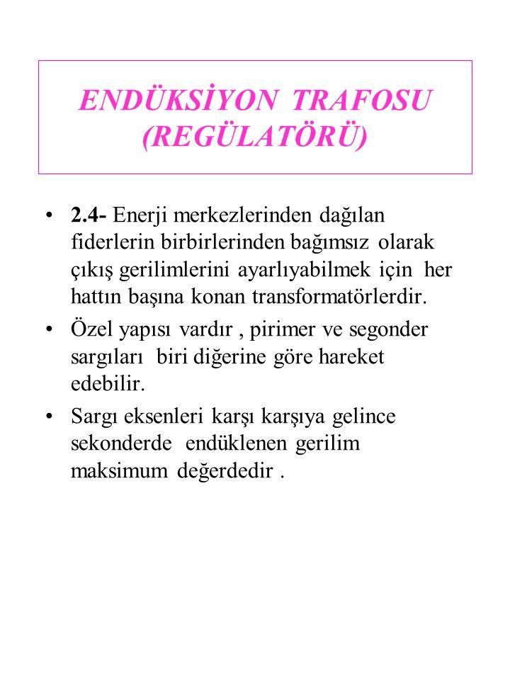 ENDÜKSİYON TRAFOSU (REGÜLATÖRÜ)