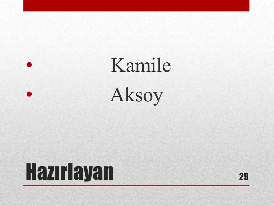 Kamile Aksoy Hazırlayan