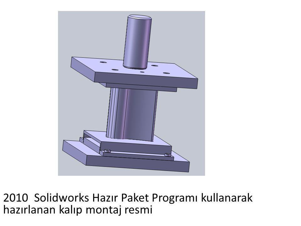 2010 Solidworks Hazır Paket Programı kullanarak hazırlanan kalıp montaj resmi