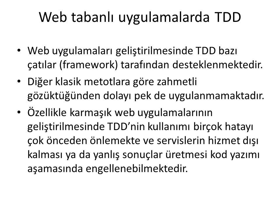 Web tabanlı uygulamalarda TDD