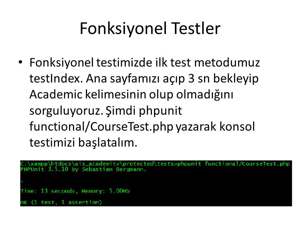 Fonksiyonel Testler