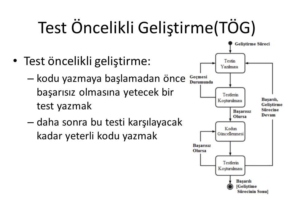 Test Öncelikli Geliştirme(TÖG)