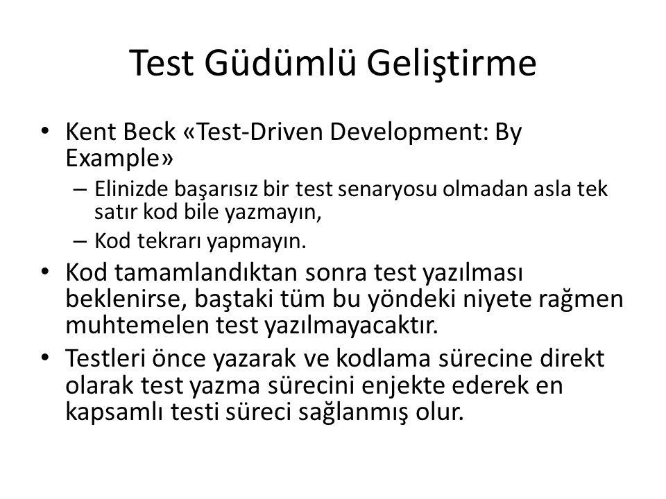 Test Güdümlü Geliştirme