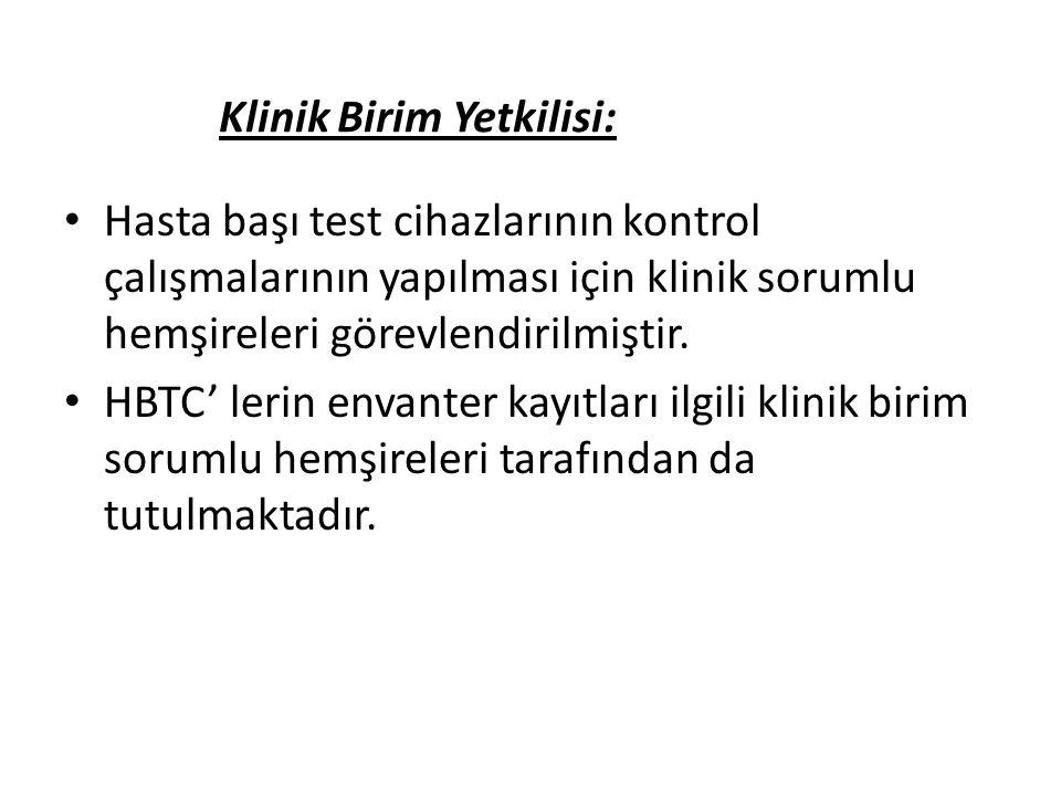 Klinik Birim Yetkilisi: