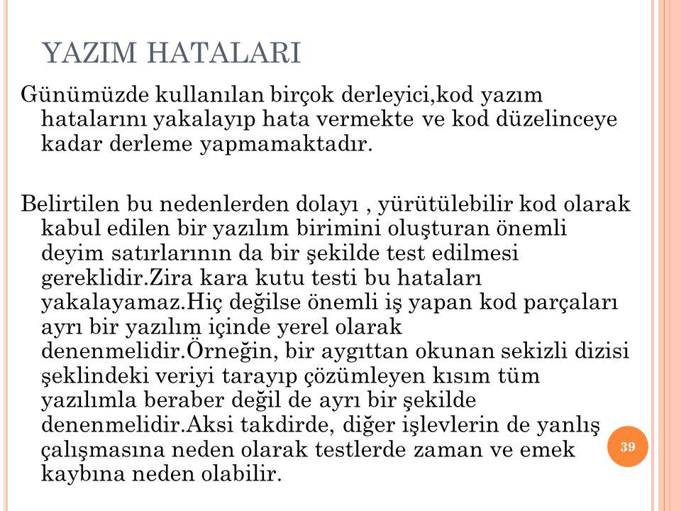 YAZIM HATALARI