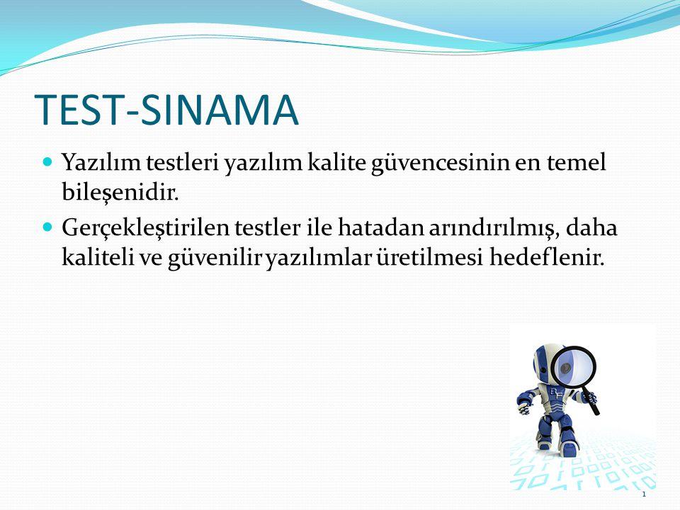 TEST-SINAMA Yazılım testleri yazılım kalite güvencesinin en temel bileşenidir.