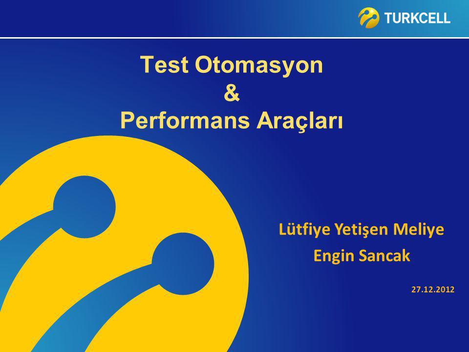 Test Otomasyon & Performans Araçları