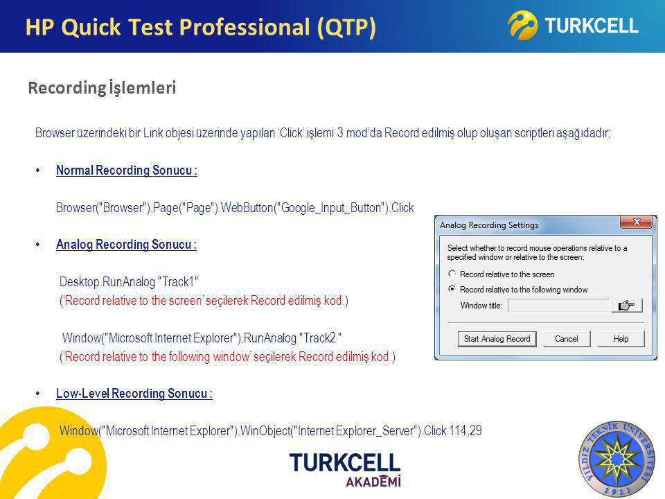 HP Quick Test Professional (QTP)
