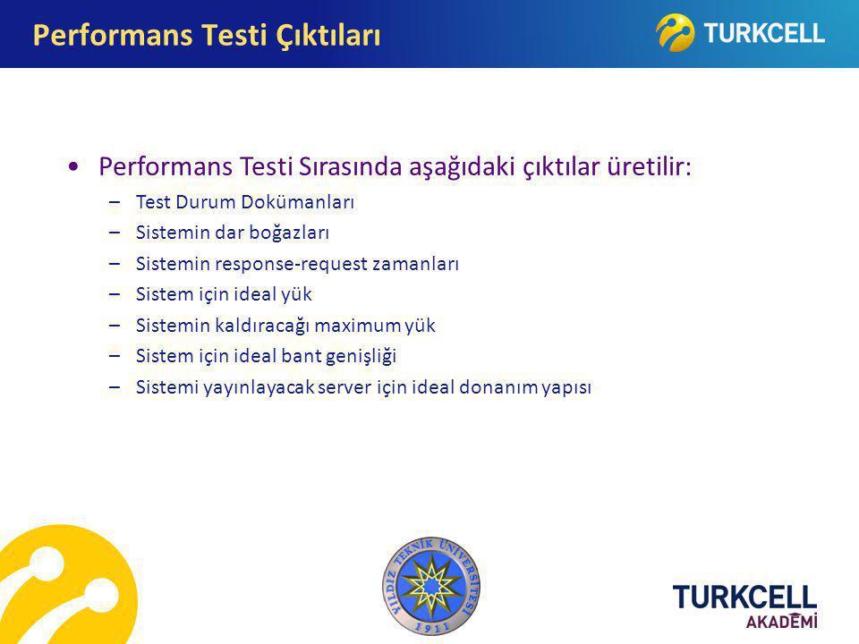 Performans Testi Çıktıları