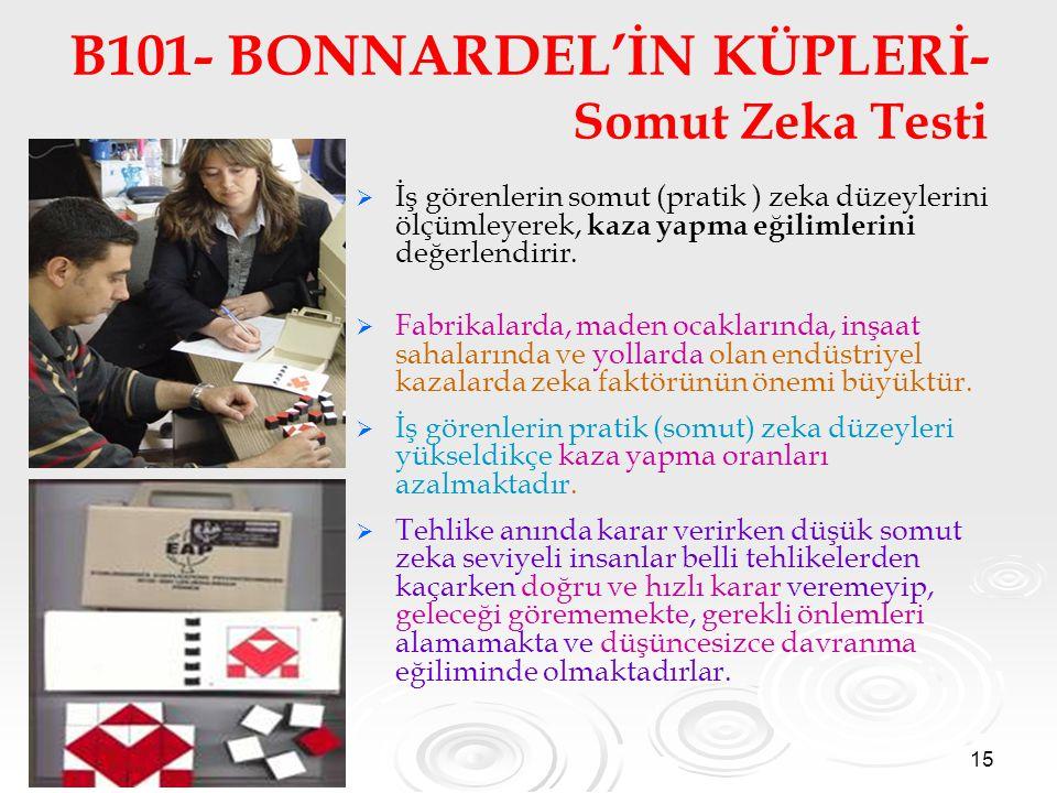 B101- BONNARDEL'İN KÜPLERİ- Somut Zeka Testi