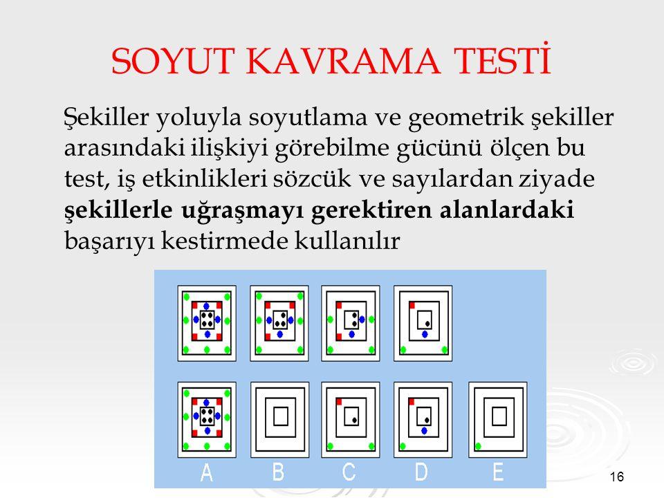 SOYUT KAVRAMA TESTİ