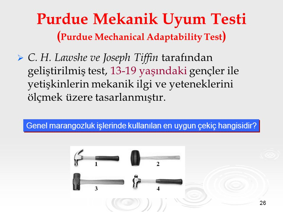 Purdue Mekanik Uyum Testi (Purdue Mechanical Adaptability Test)
