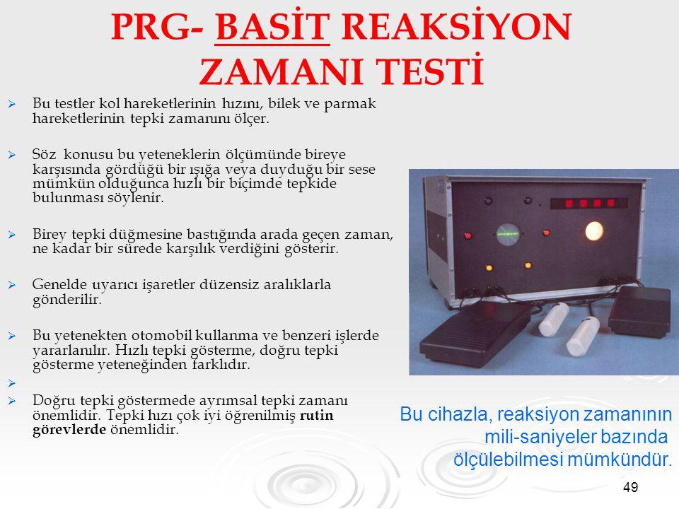 PRG- BASİT REAKSİYON ZAMANI TESTİ