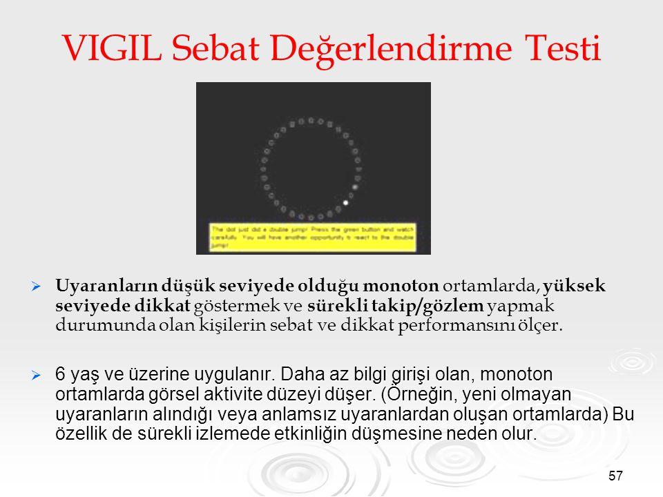 VIGIL Sebat Değerlendirme Testi