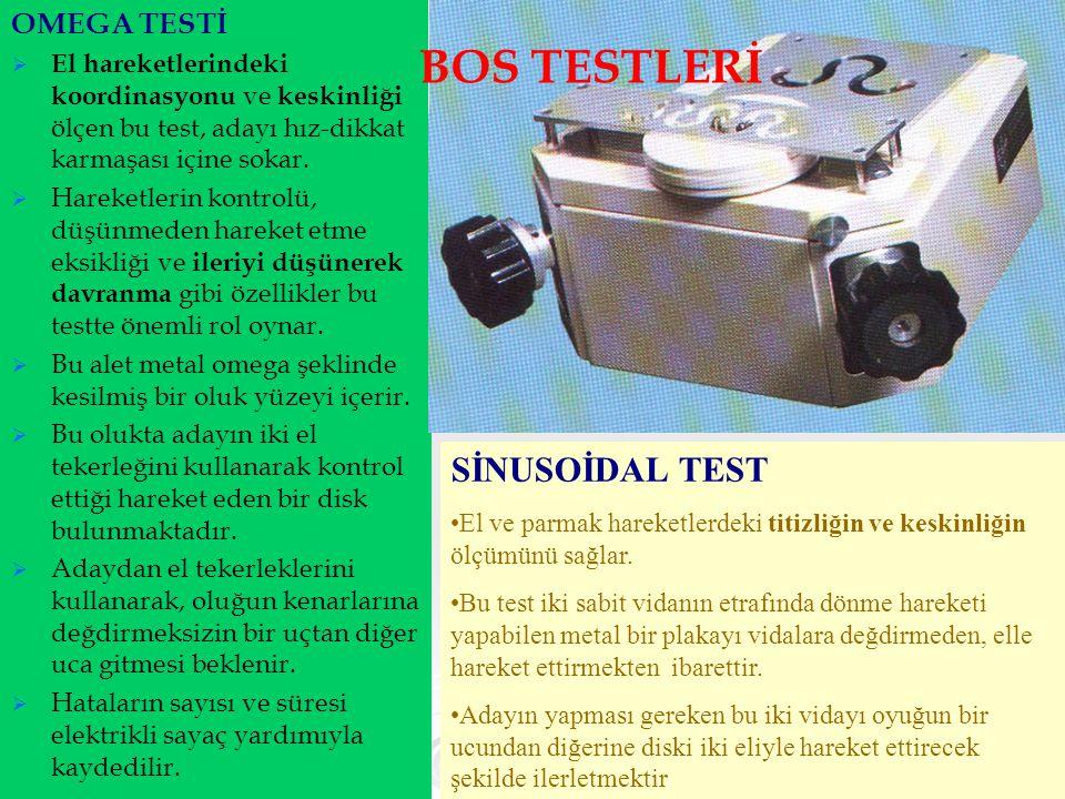 BOS TESTLERİ SİNUSOİDAL TEST OMEGA TESTİ