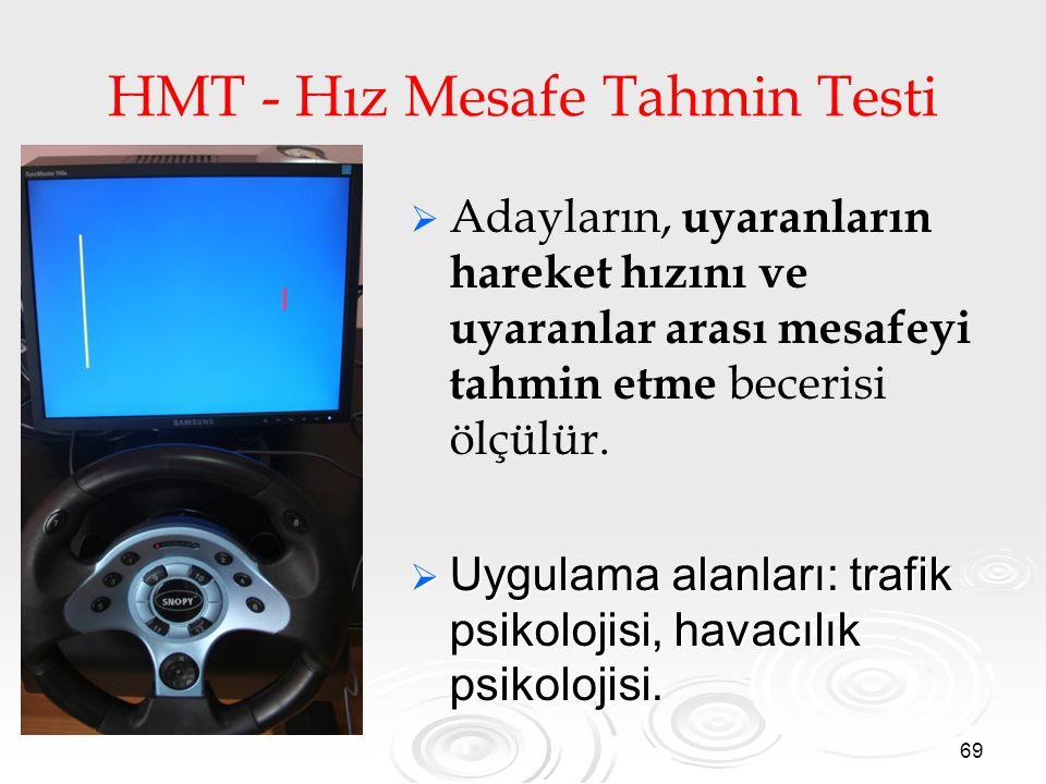 HMT - Hız Mesafe Tahmin Testi