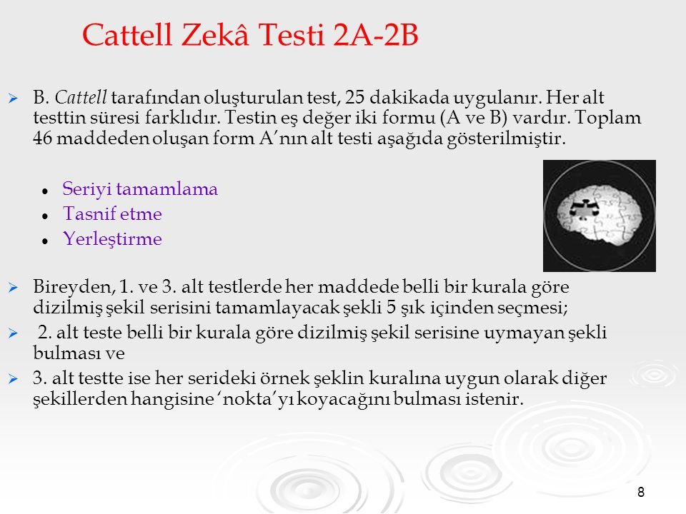 Cattell Zekâ Testi 2A-2B