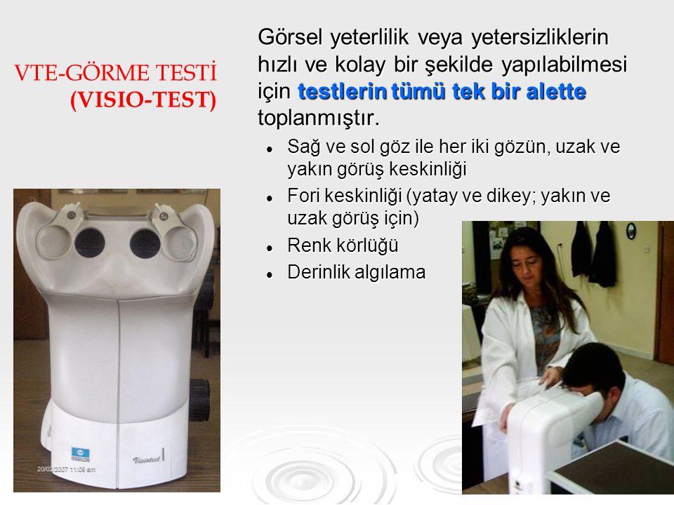VTE-GÖRME TESTİ (VISIO-TEST)