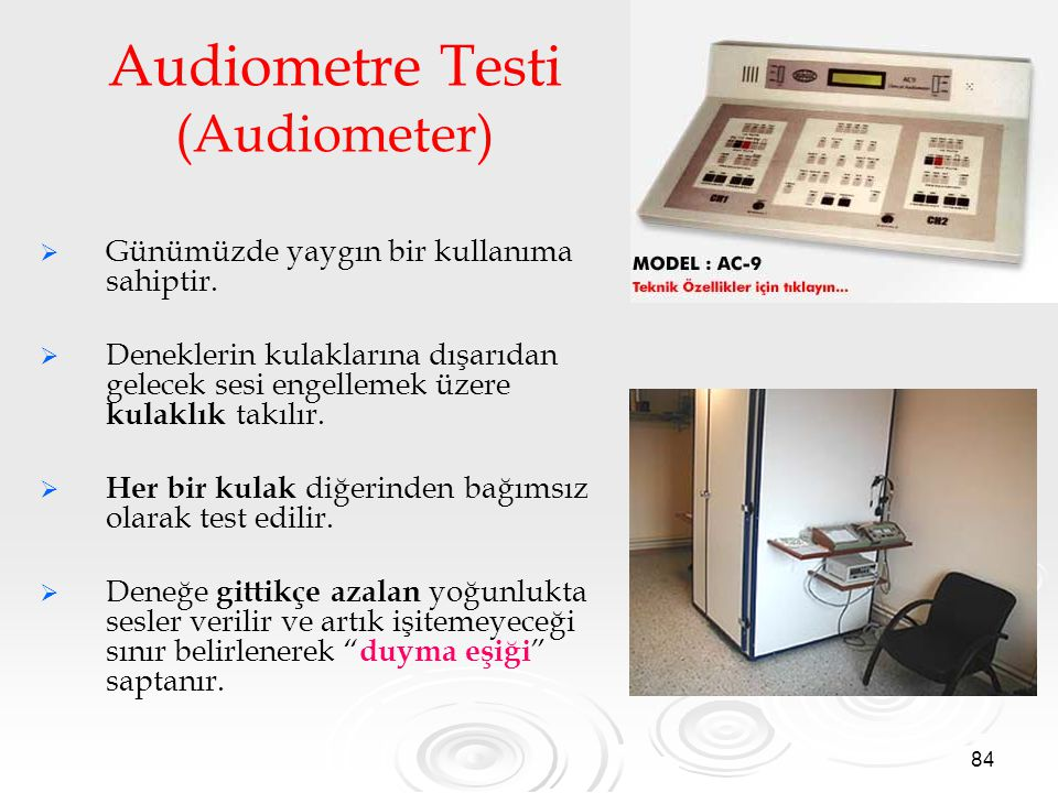 Audiometre Testi (Audiometer)