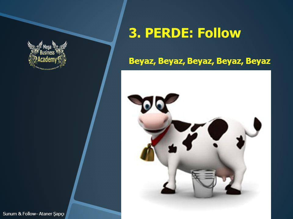 3. PERDE: Follow Beyaz, Beyaz, Beyaz, Beyaz, Beyaz