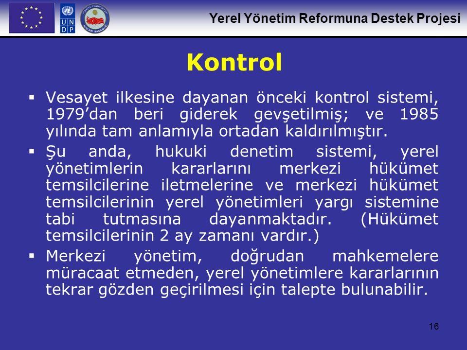 Kontrol Vesayet ilkesine dayanan önceki kontrol sistemi, 1979'dan beri giderek gevşetilmiş; ve 1985 yılında tam anlamıyla ortadan kaldırılmıştır.