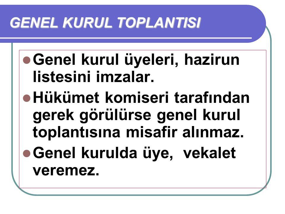 GENEL KURUL TOPLANTISI