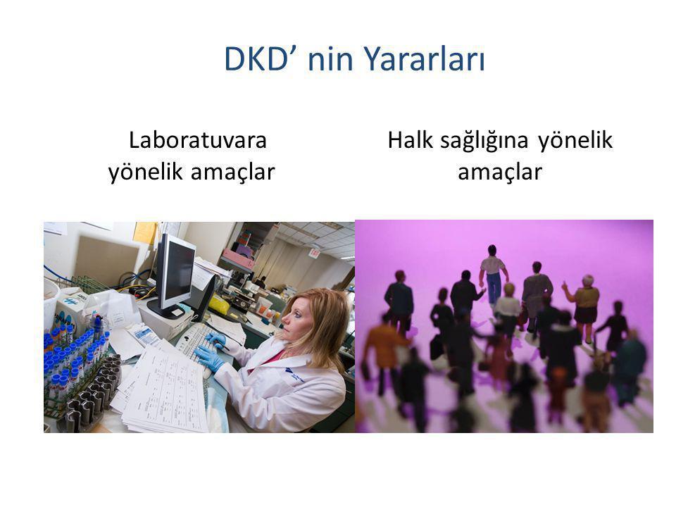 DKD' nin Yararları Laboratuvara yönelik amaçlar