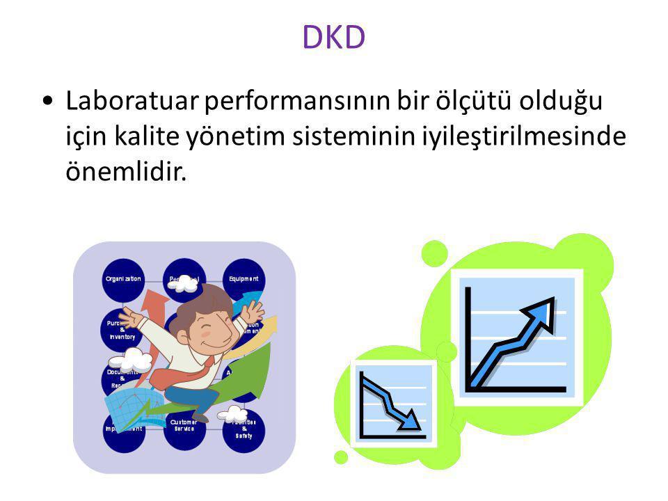 DKD Laboratuar performansının bir ölçütü olduğu için kalite yönetim sisteminin iyileştirilmesinde önemlidir.