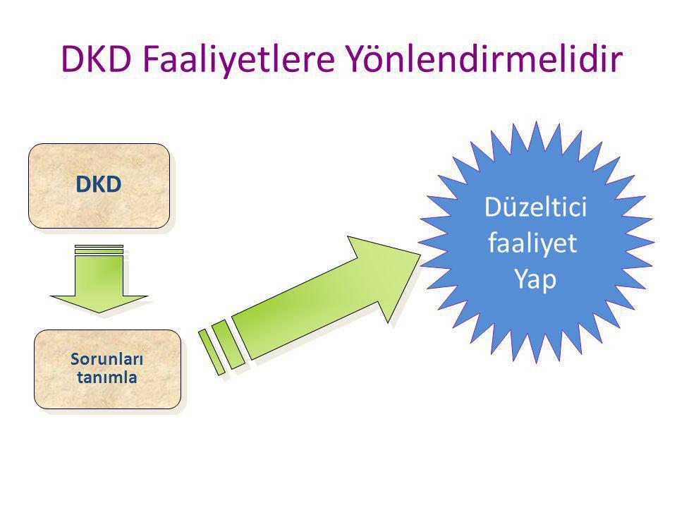 DKD Faaliyetlere Yönlendirmelidir
