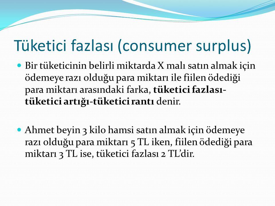 Tüketici fazlası (consumer surplus)
