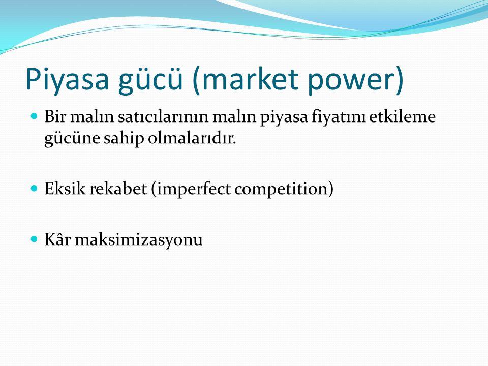 Piyasa gücü (market power)