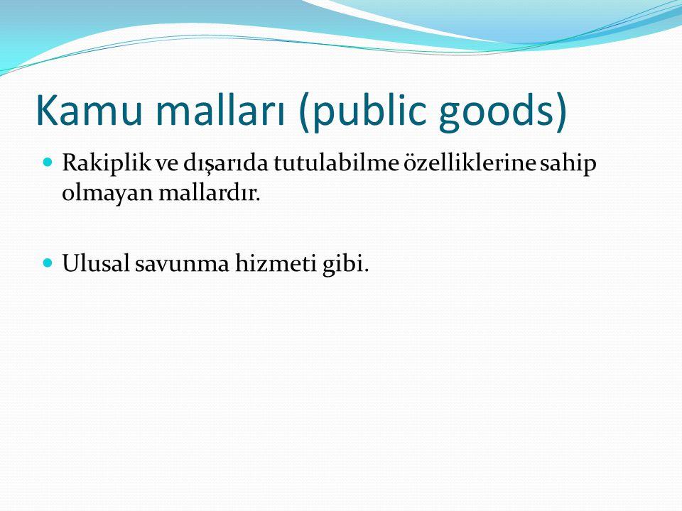 Kamu malları (public goods)