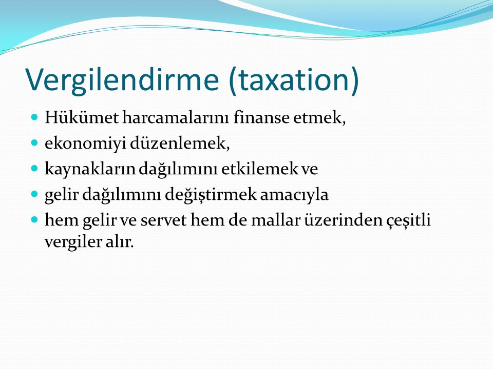Vergilendirme (taxation)