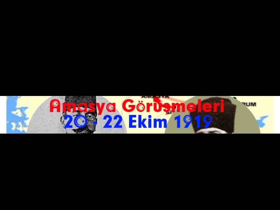 Mustafa Kemal ile İstanbul Hükümeti adına Salih Paşa Amasya'da bir araya geldi.