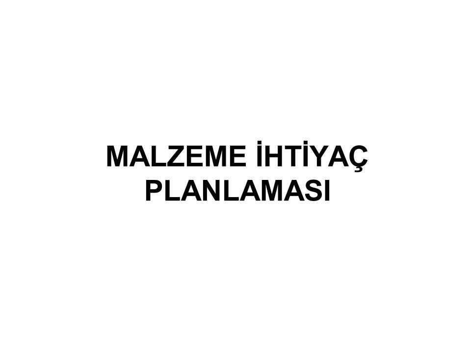 MALZEME İHTİYAÇ PLANLAMASI